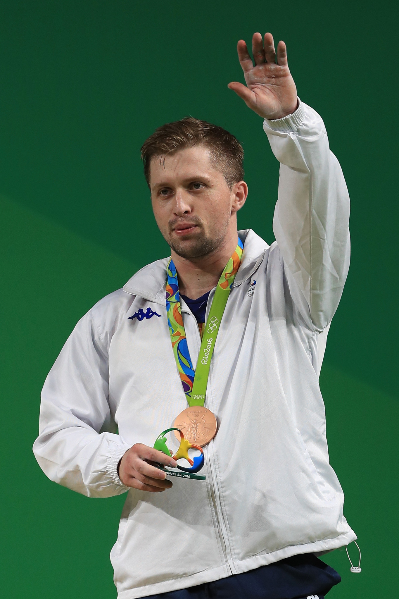 Gabriel Sîncrăian won an Olympic bronze in the 85 kilograms at Rio 2016 before testing positive for testosterone and being stripped of the medal ©Getty Images