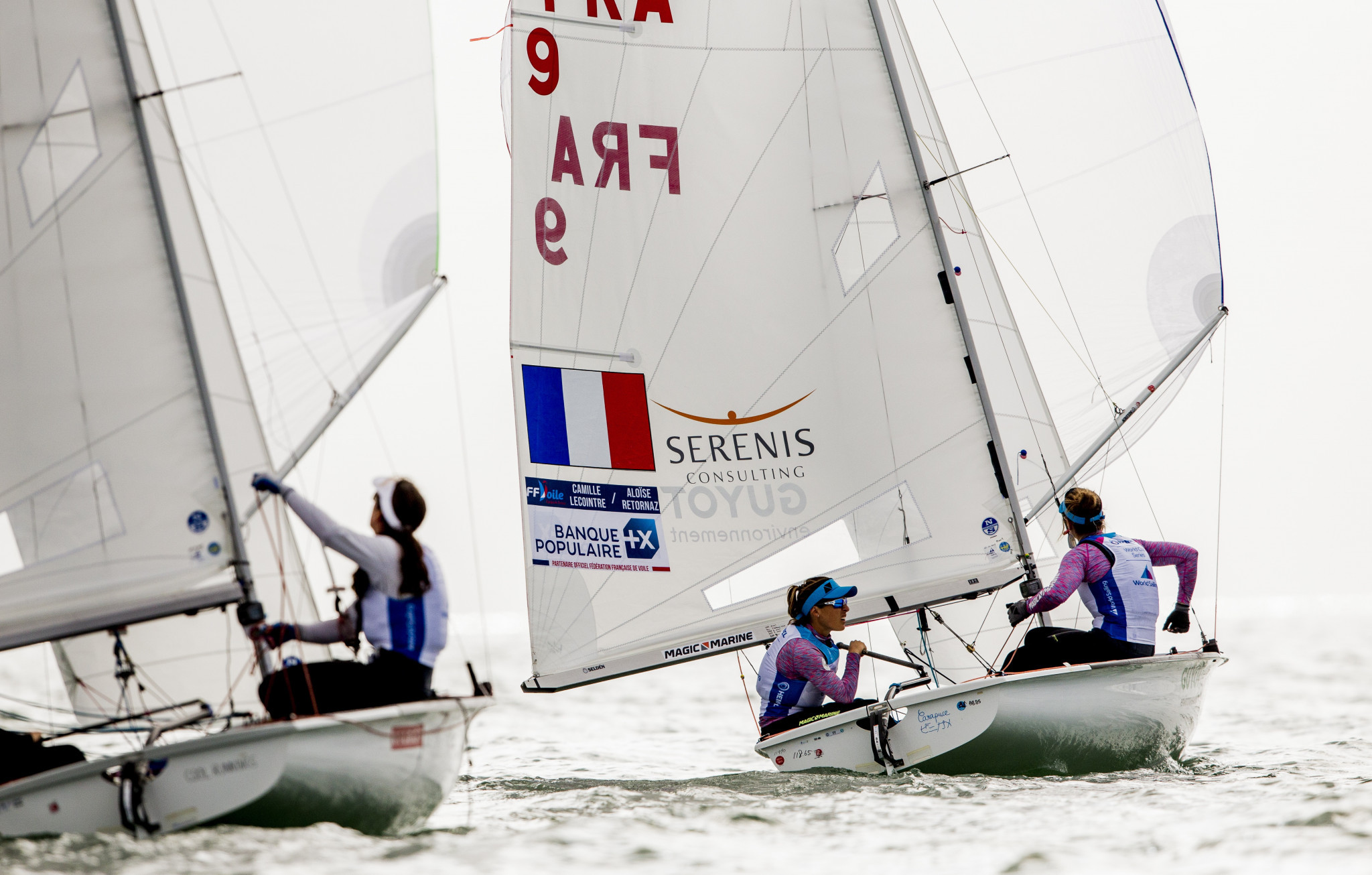 Camille Lecointre and Aloise Retornaz started well in Miami ©World Sailing