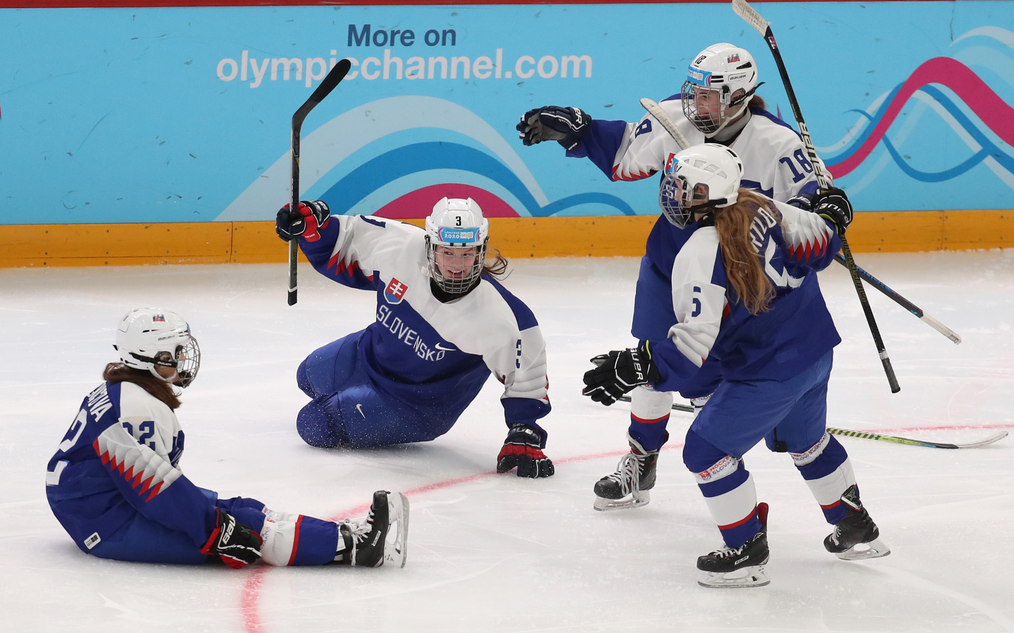 Slovakia won the bronze medal match, beating hosts Switzerland 2-1 ©Getty Images