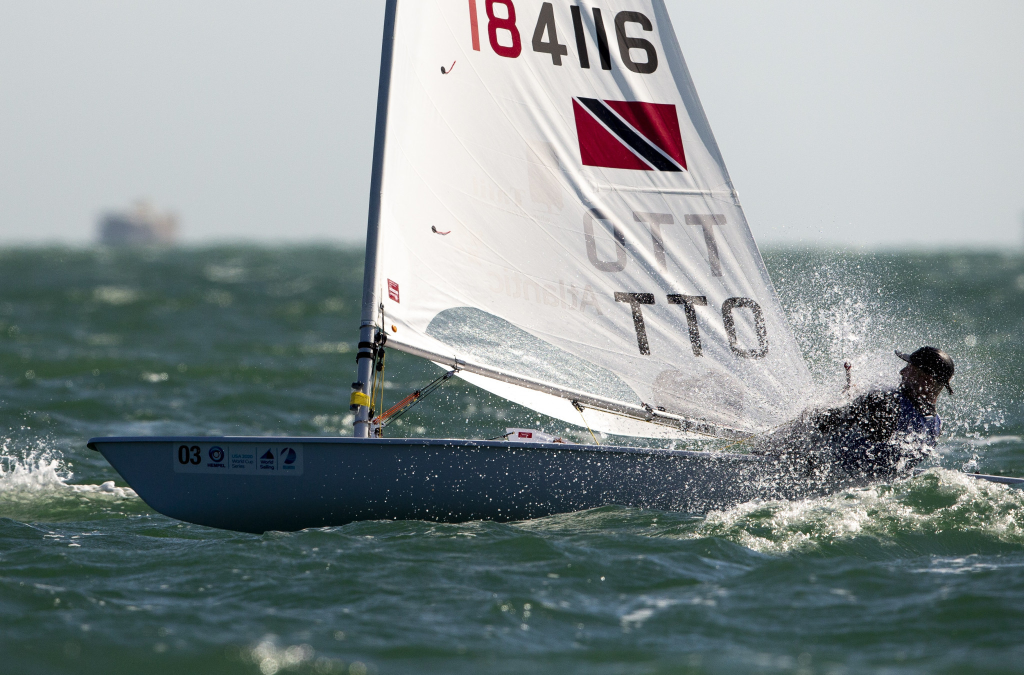 Trinidad and Tobago's Andrew Lewis is one of the sailors competing for a North American Tokyo 2020 place ©World Sailing