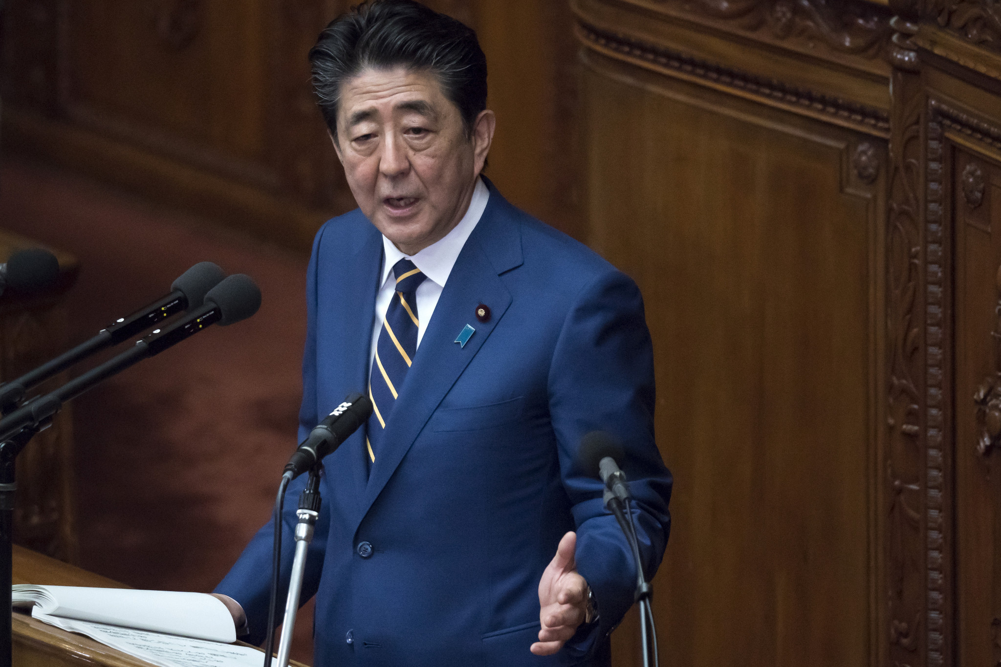 Japanese Prime Minister Shinzō Abe recently gave a policy speech at the start of the regular session of the National Diet in Tokyo ©Getty Images