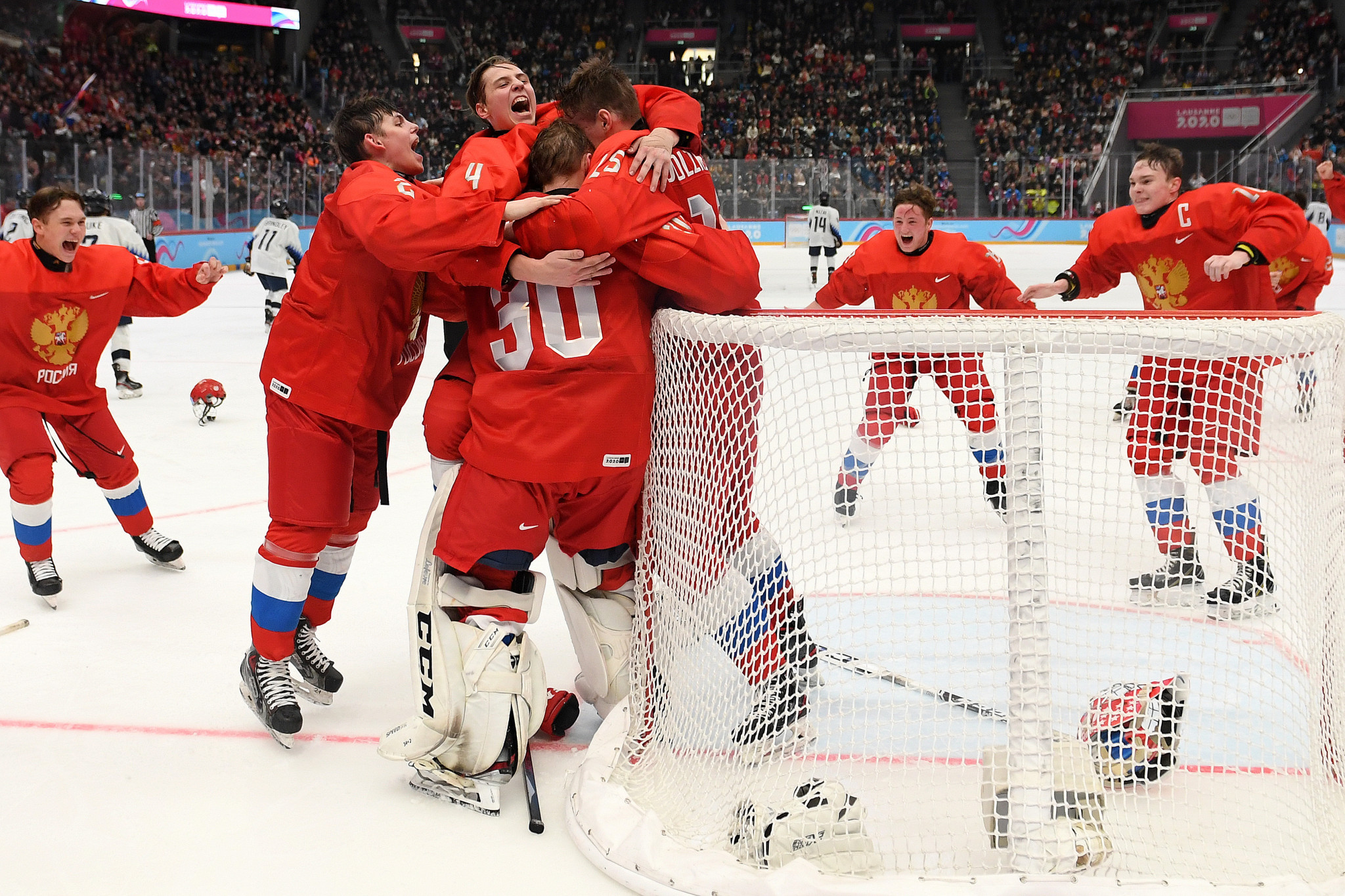 Russia beat United States to clinch men's ice hockey title at Lausanne 2020