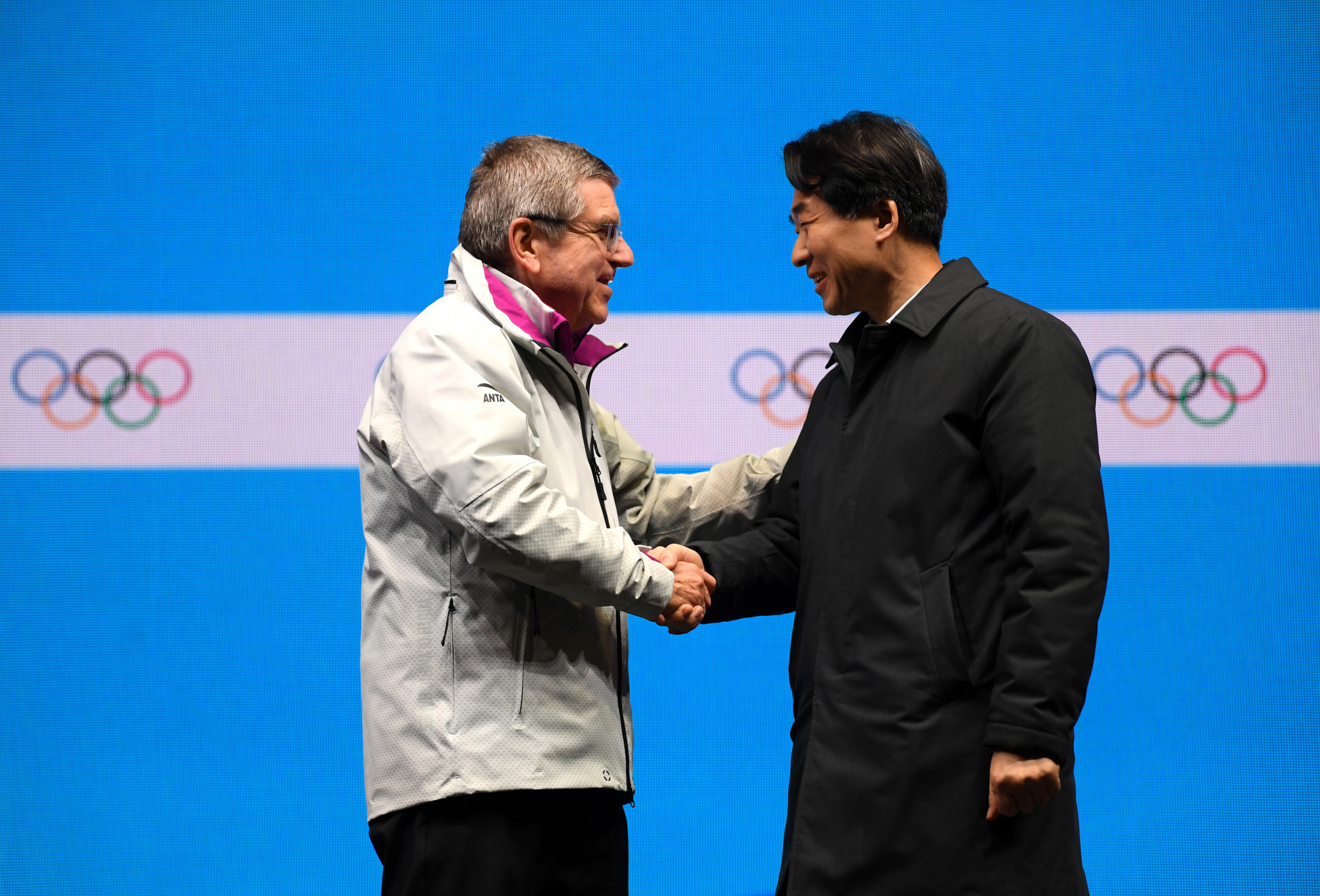 The flag was handed over to Gangwon, hosts in 2024 ©Getty Images