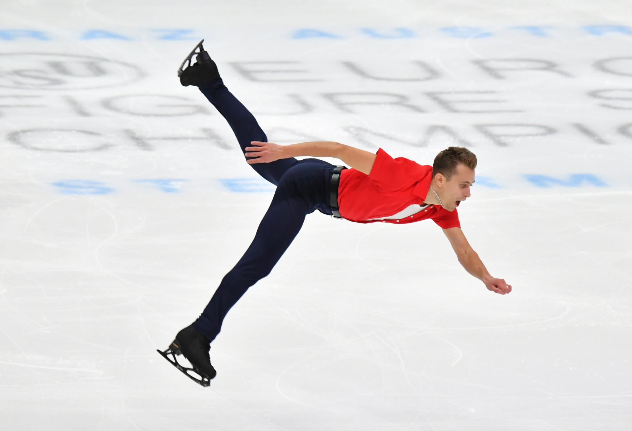 Březina leads after men's short programme at ISU European Figure Skating Championships