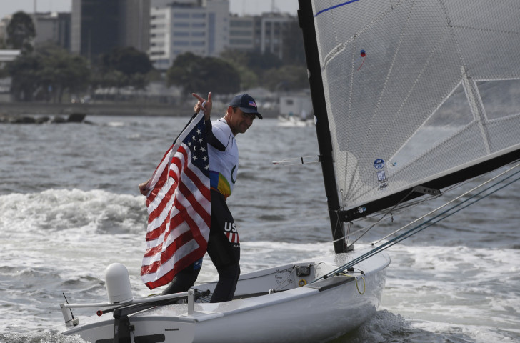 The United States' Rio 2016 bronze medallist Caleb Paine has won the Finn class event at the Sailing World Cup in Miami ahead of tomorrow's medal races ©Getty Images
