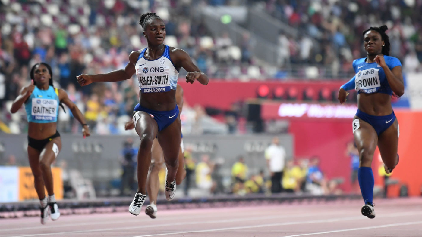 Dina Asher-Smith is one of the most recent British successes from development level ©Getty Images