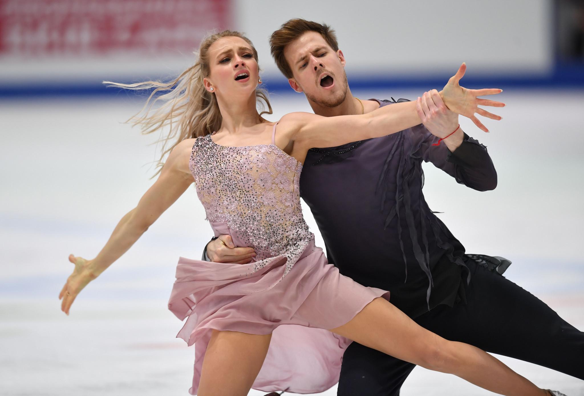 Russia's Victoria Sinitsina and Nikita Katsalapov skated brilliantly to deny France's Gabriella Papadakis and Guillaume Cizeron a record-equalling sixth European Championship ice dance title ©Getty Images
