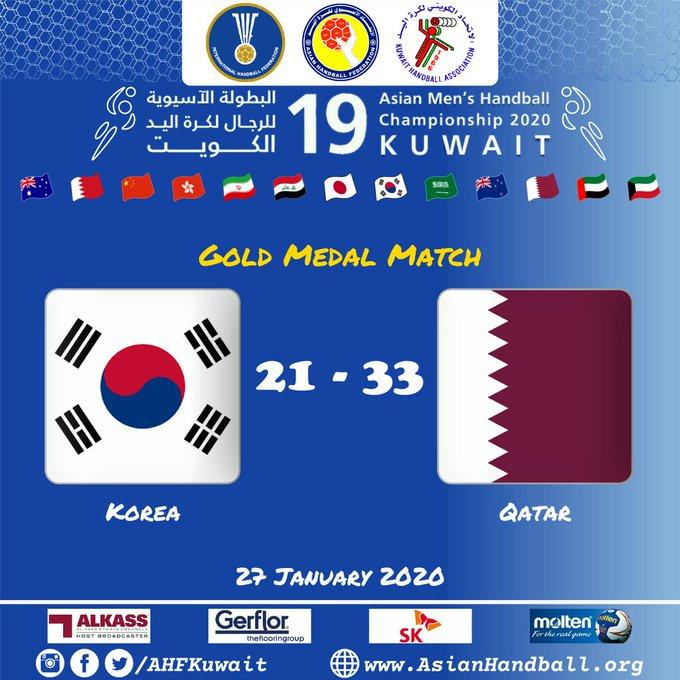 Qatar seal defence of Asian Men's Handball Championship title