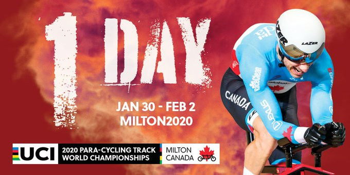 The UCI Para-Cycling Track World Championships are set to begin in Milton tomorrow ©UCI Para-Cycling/Twitter