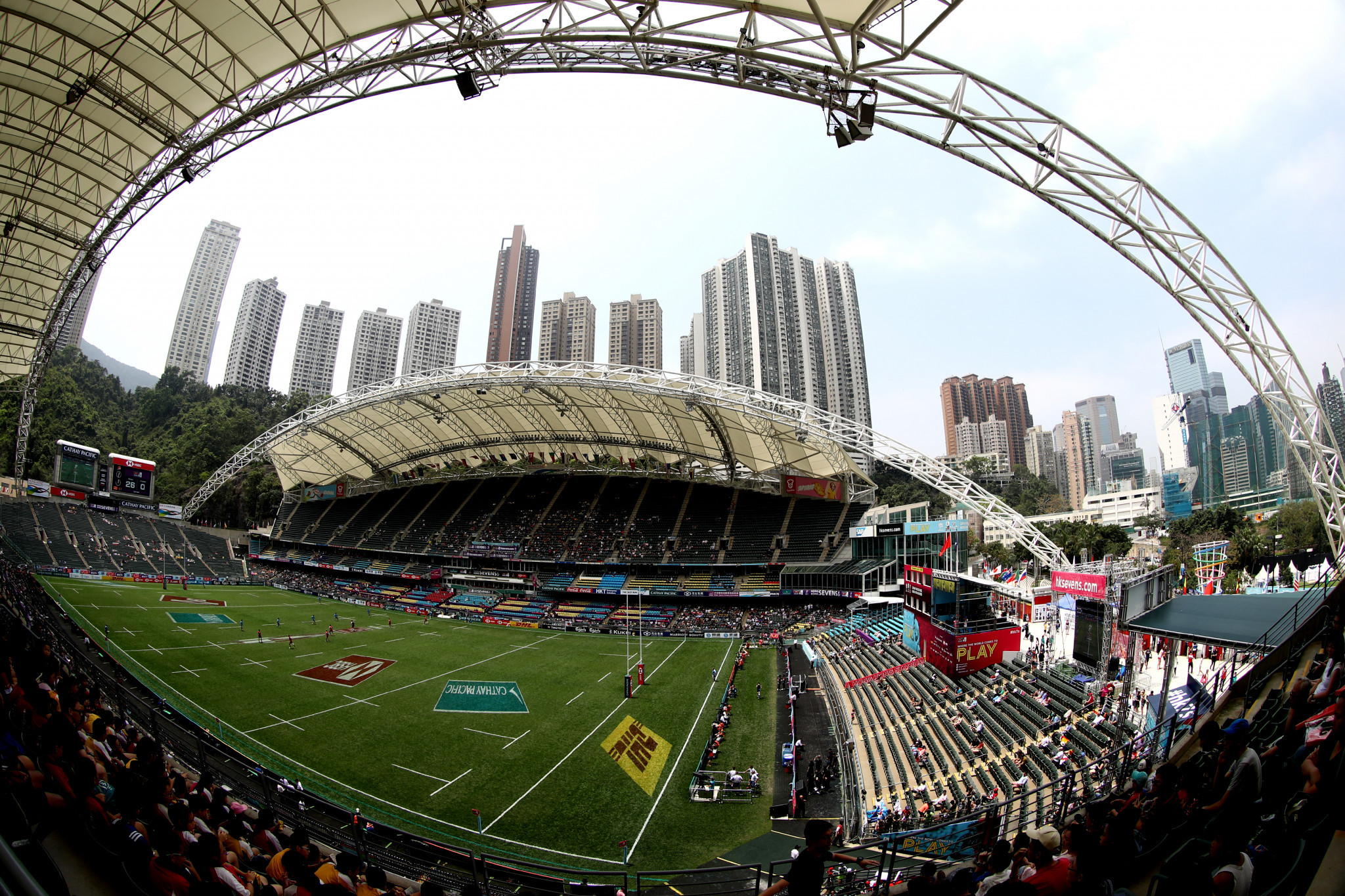 There are currently no plans to cancel the Hong Kong Sevens ©Getty Images
