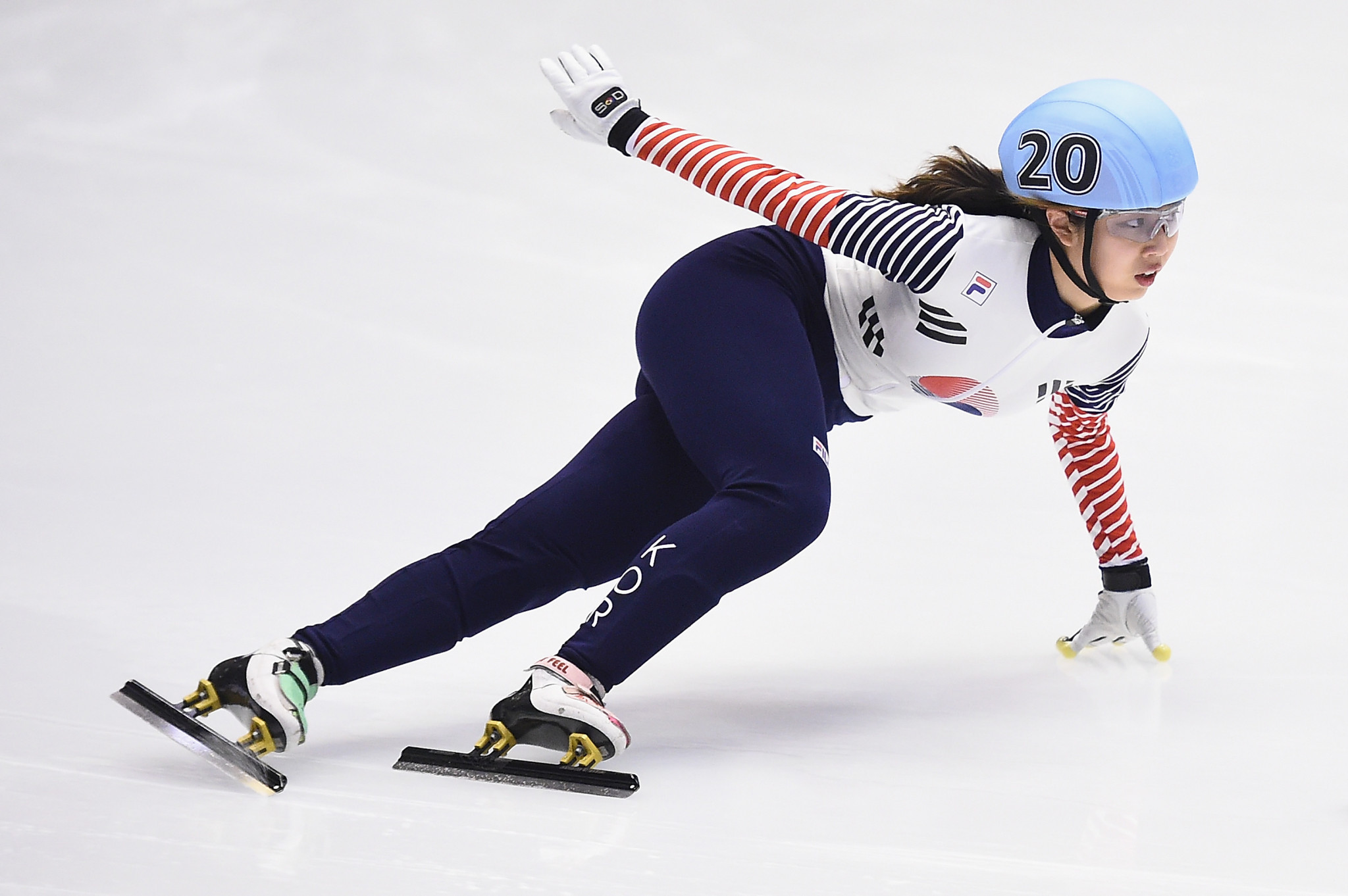 Kim Geon-hee of South Korea already has a senior Short Track World Cup title ©Getty Images
