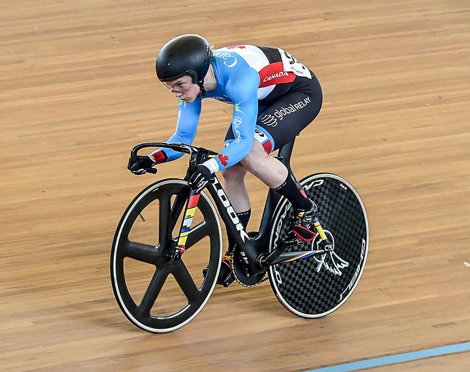 Canada's Kate O'Brien claimed gold in a world-record time ©Twitter/Cycling Canada