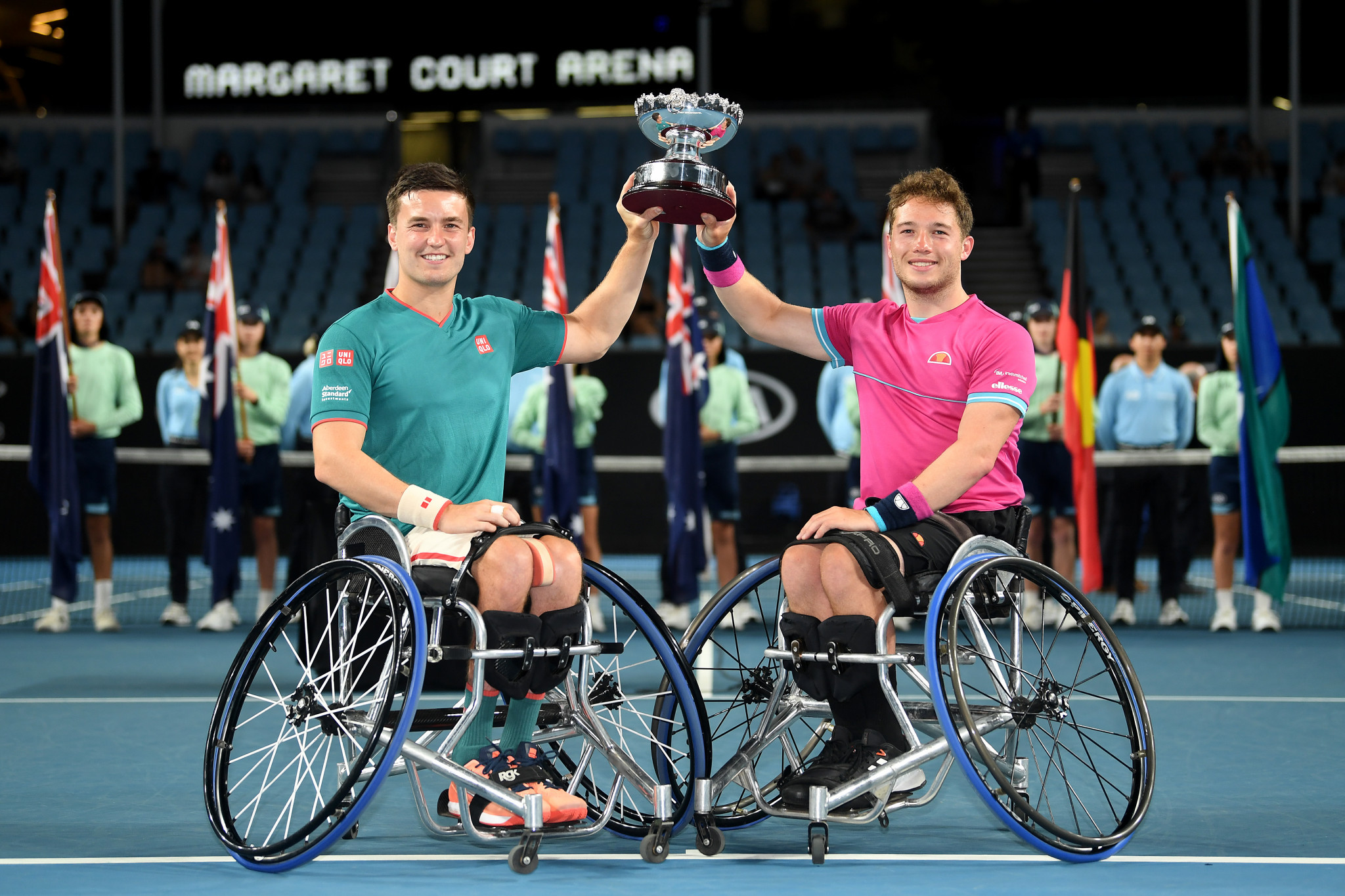 Wheelchair doubles champions crowned at Australian Open as top seeds lose