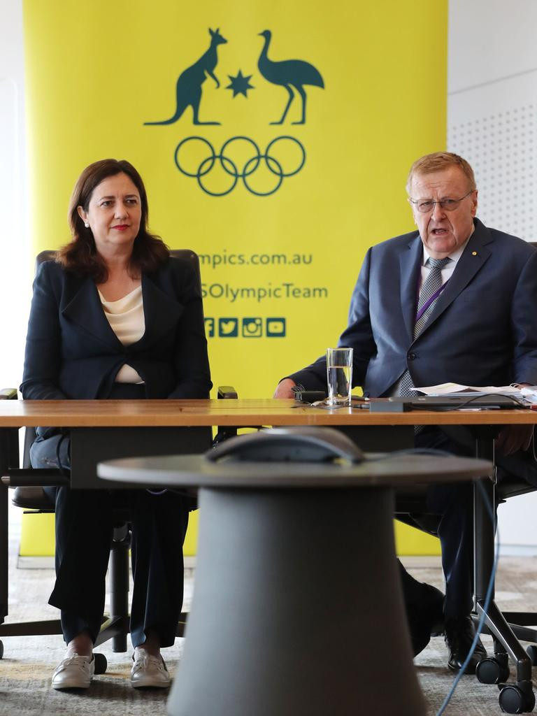 Australian Olympic Committee President John Coates, right, has hit back at claims by politician Pauline Hanson that a bid from Queensland for the 2032 Olympic and Paralympic Games would be a waste of money ©AOC