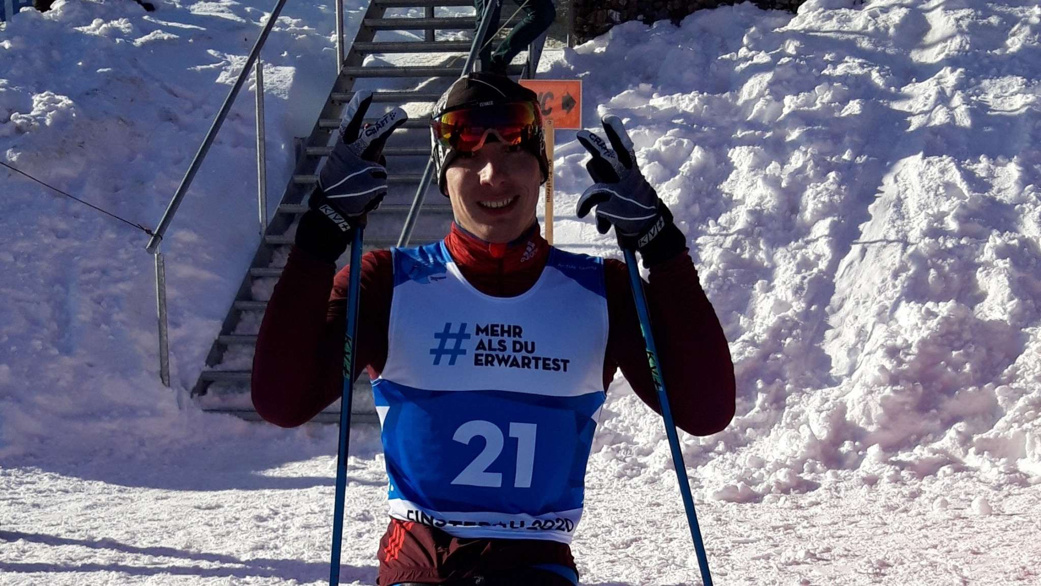 Ivan Golubkov was one of three Russian winners on day one of the cross-country ©Twitter/@ParaSnowSports
