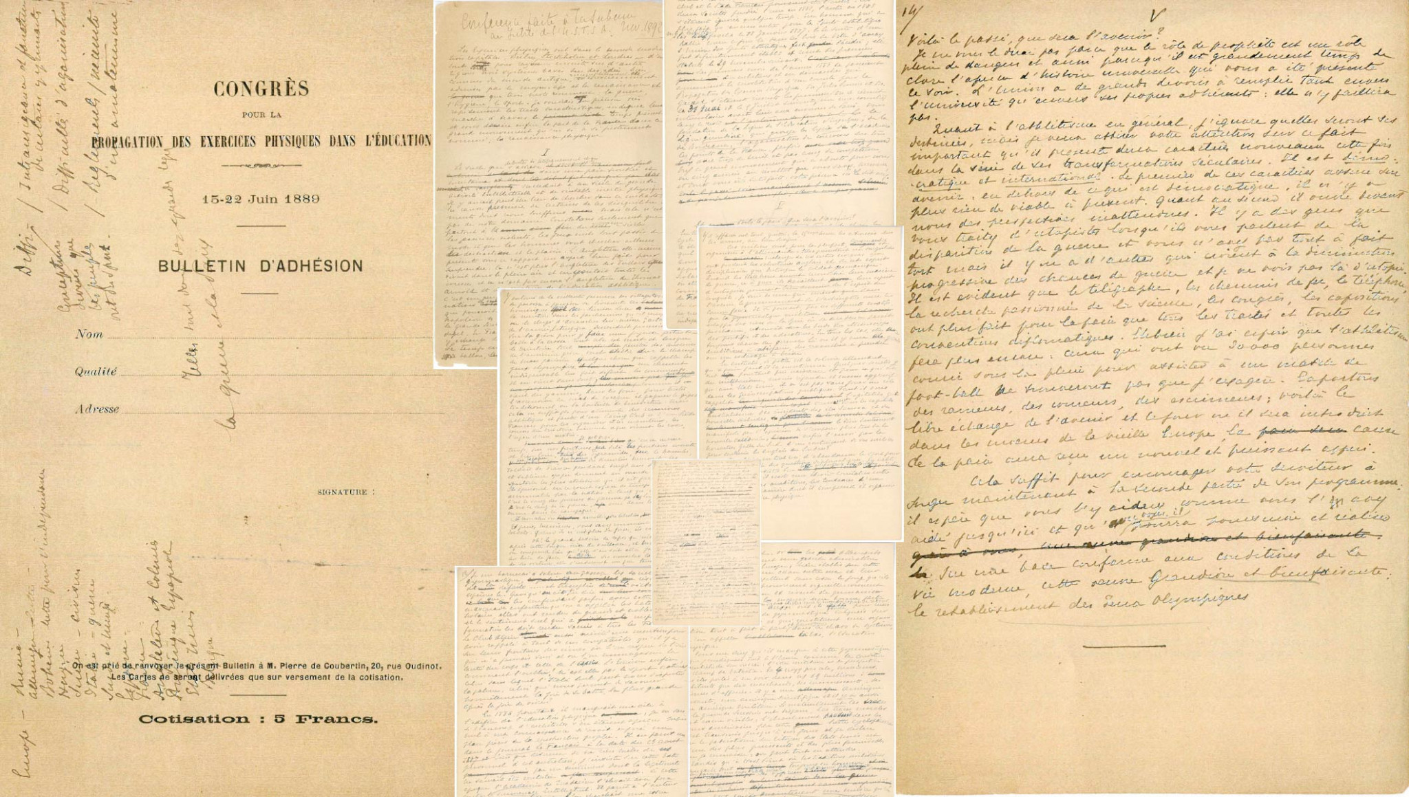 Baron Pierre de Coubertin's famous manuscript has been donated to the Olympic Museum ©IOC