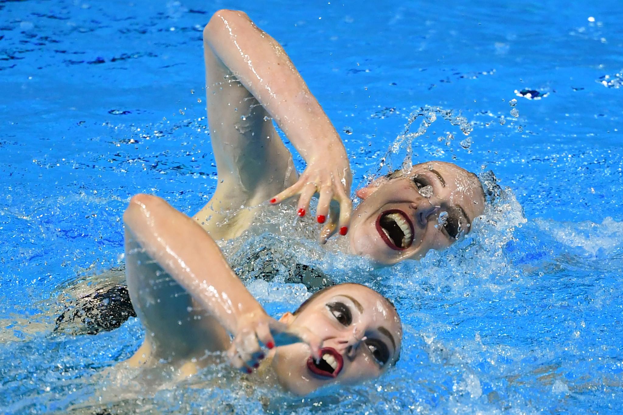 Svetlana Romashina and Svetlana Kolesnichenko were joint winner in artistic swimming as Russia won both the men's and women's awards ©Getty Images