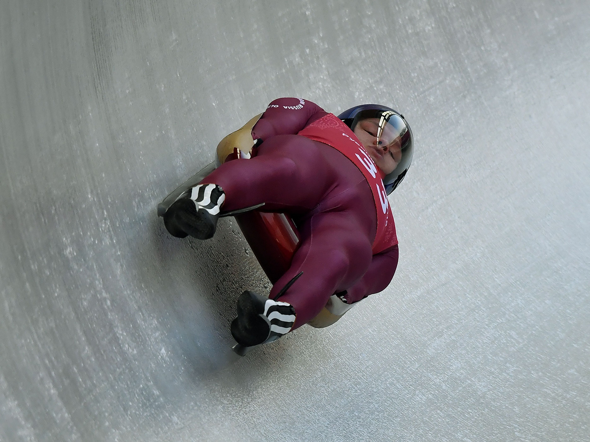 Roman Repilov won the men's sprint title at the FIL Luge World Championships ©Getty Images