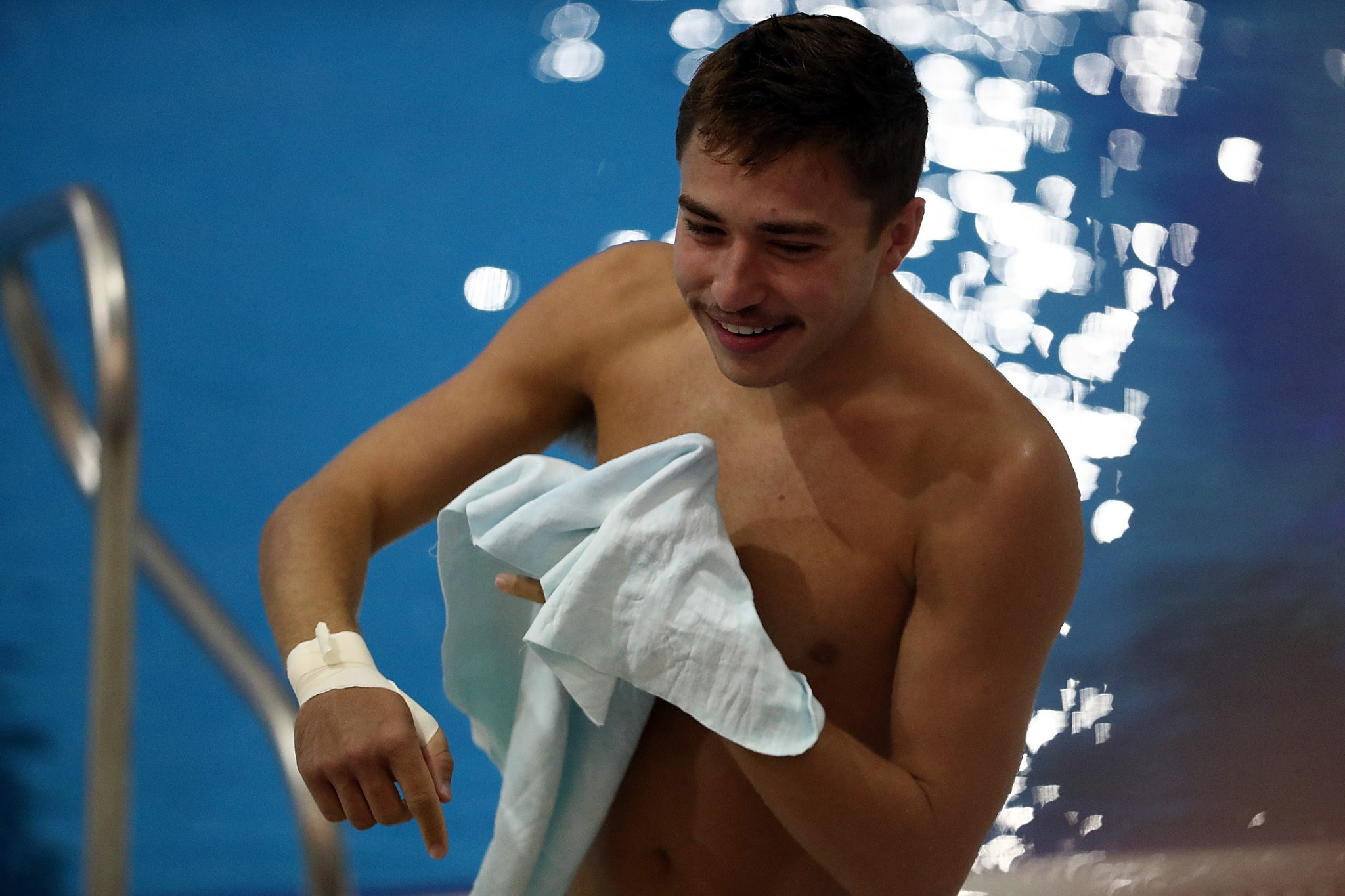 David Dinsmore of the United States held took gold in Madrid ©Getty Images
