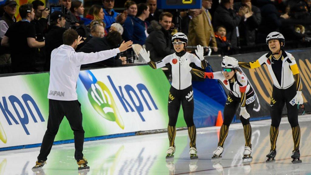 Japan broke their own world record in the women's team pursuit ©Twitter/ISU_Speed