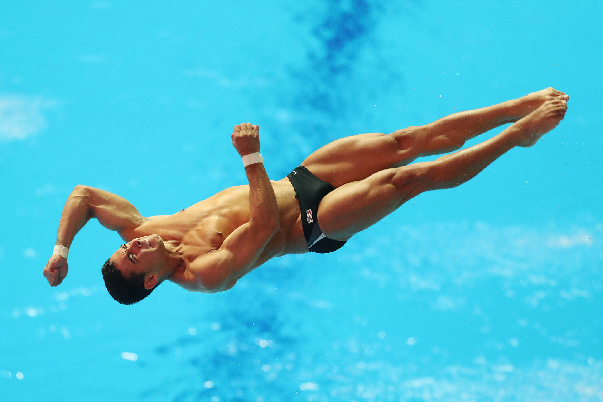 Briadam Herrera secured 3m springboard gold in the absence of Chinese divers ©Getty Images