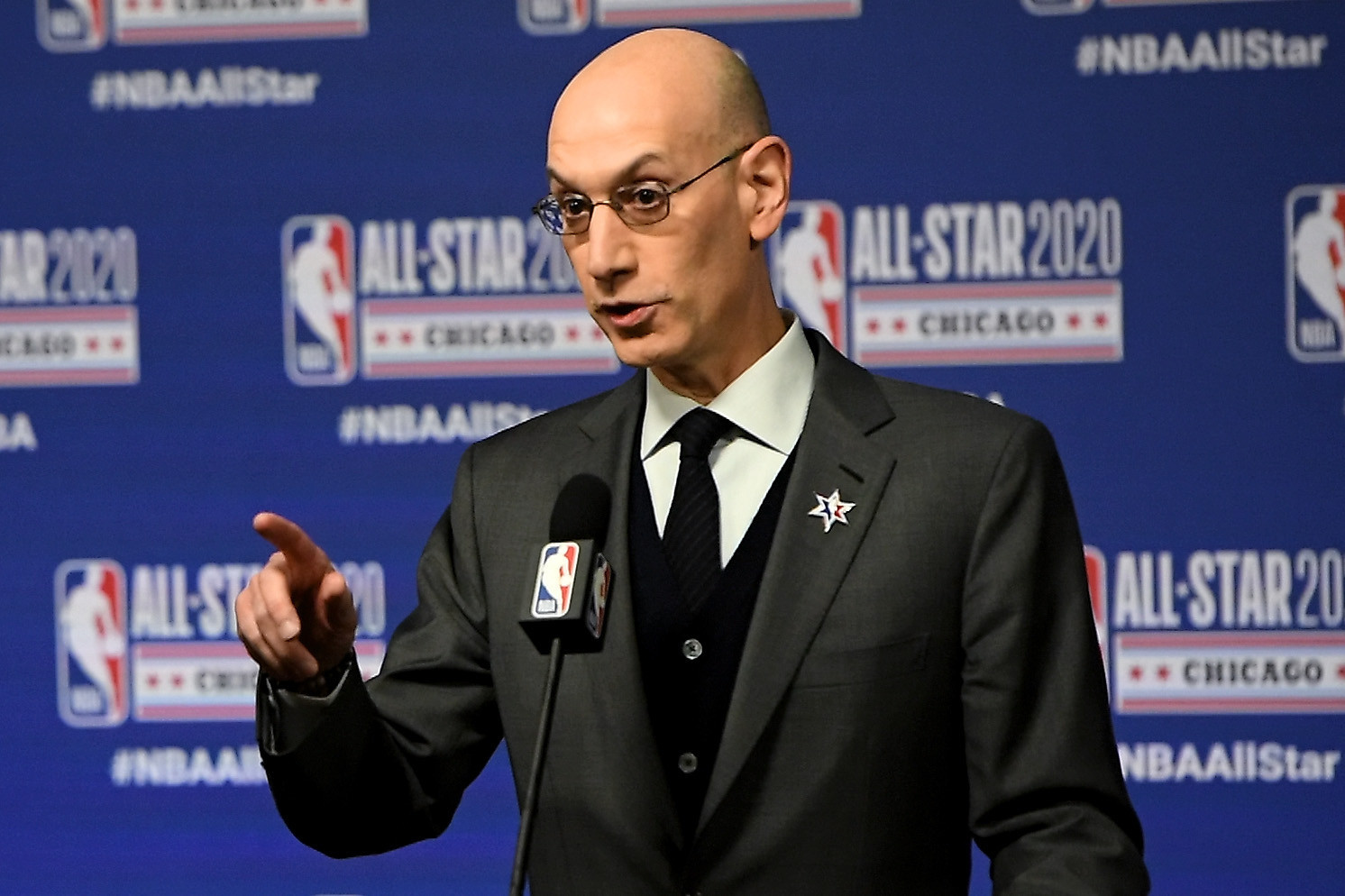 NBA Commissioner Adam Silver has defended holding the All-Star game in Atlanta during the pandemic ©Getty Images