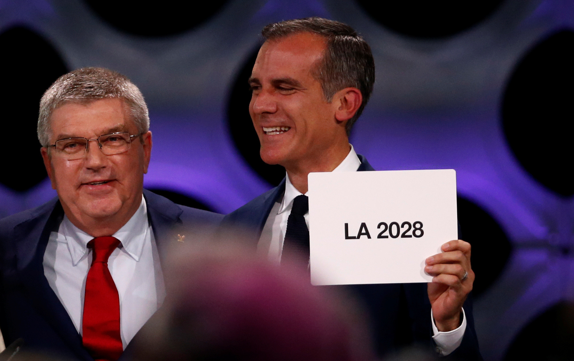 Los Angeles Mayor Eric Garcetti has been a fierce critic of US President Donald Trump ©Getty Images