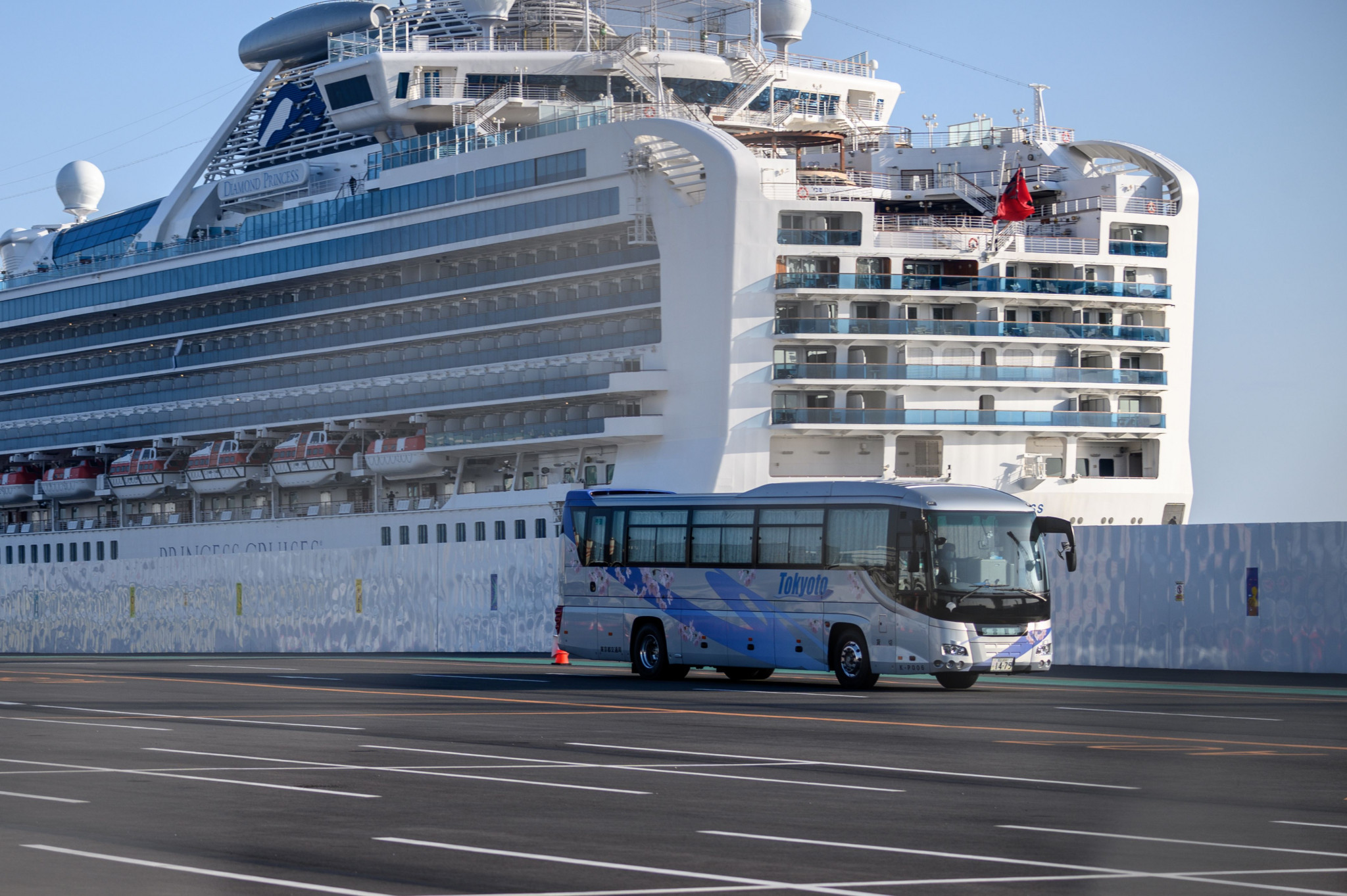 More than 600 cases of the virus have been reported on the quarantined cruise ship ©Getty Images