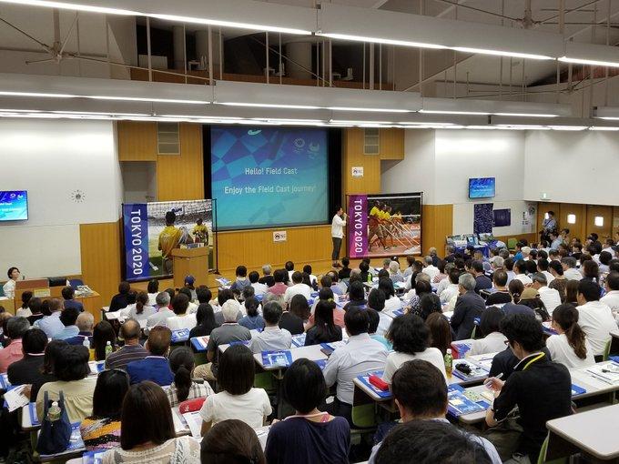 Tokyo 2020 began volunteer training in October ©Twitter
