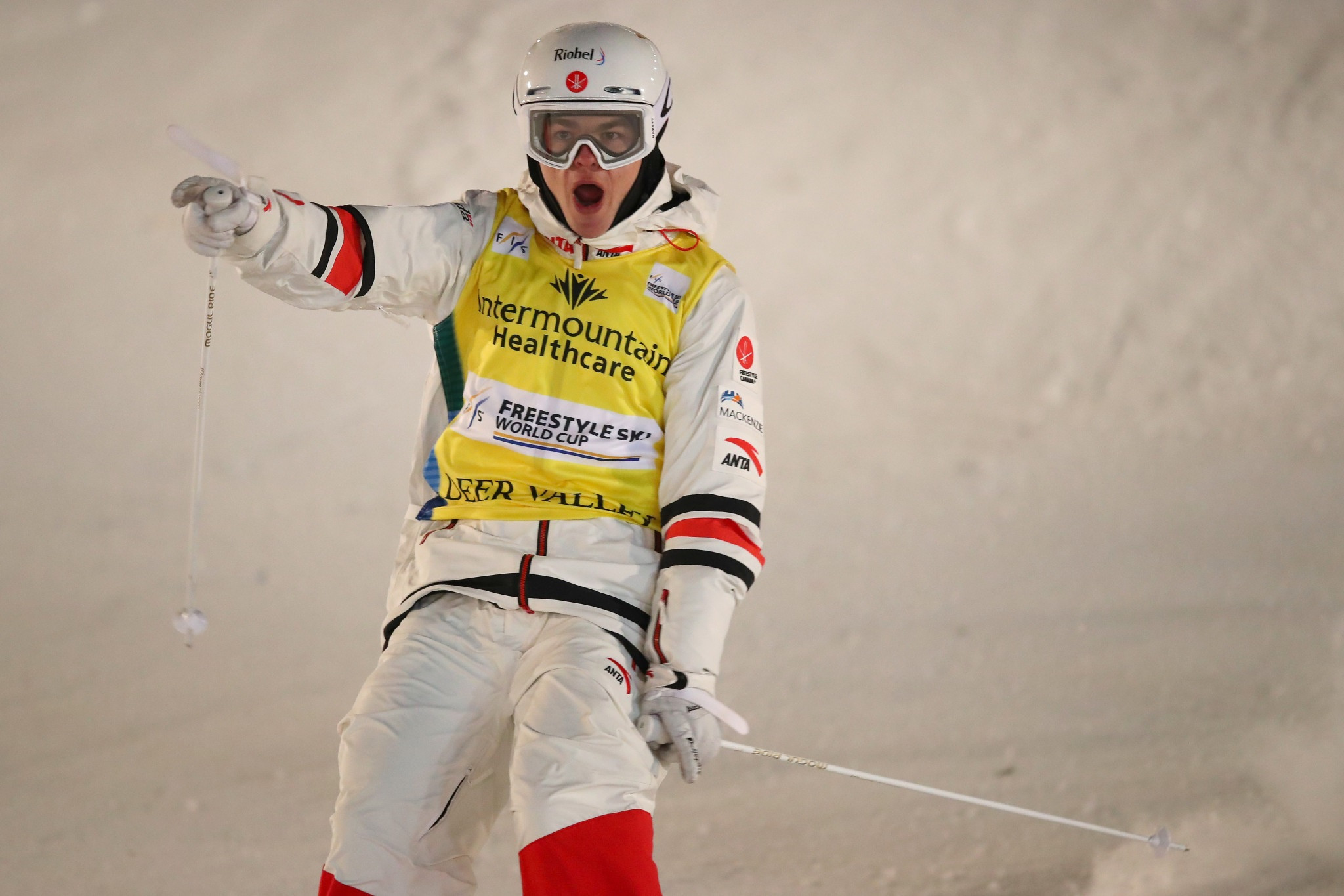 Canada's Mikaël Kingsbury is set to defend two world moguls titles in Almaty ©Getty Images