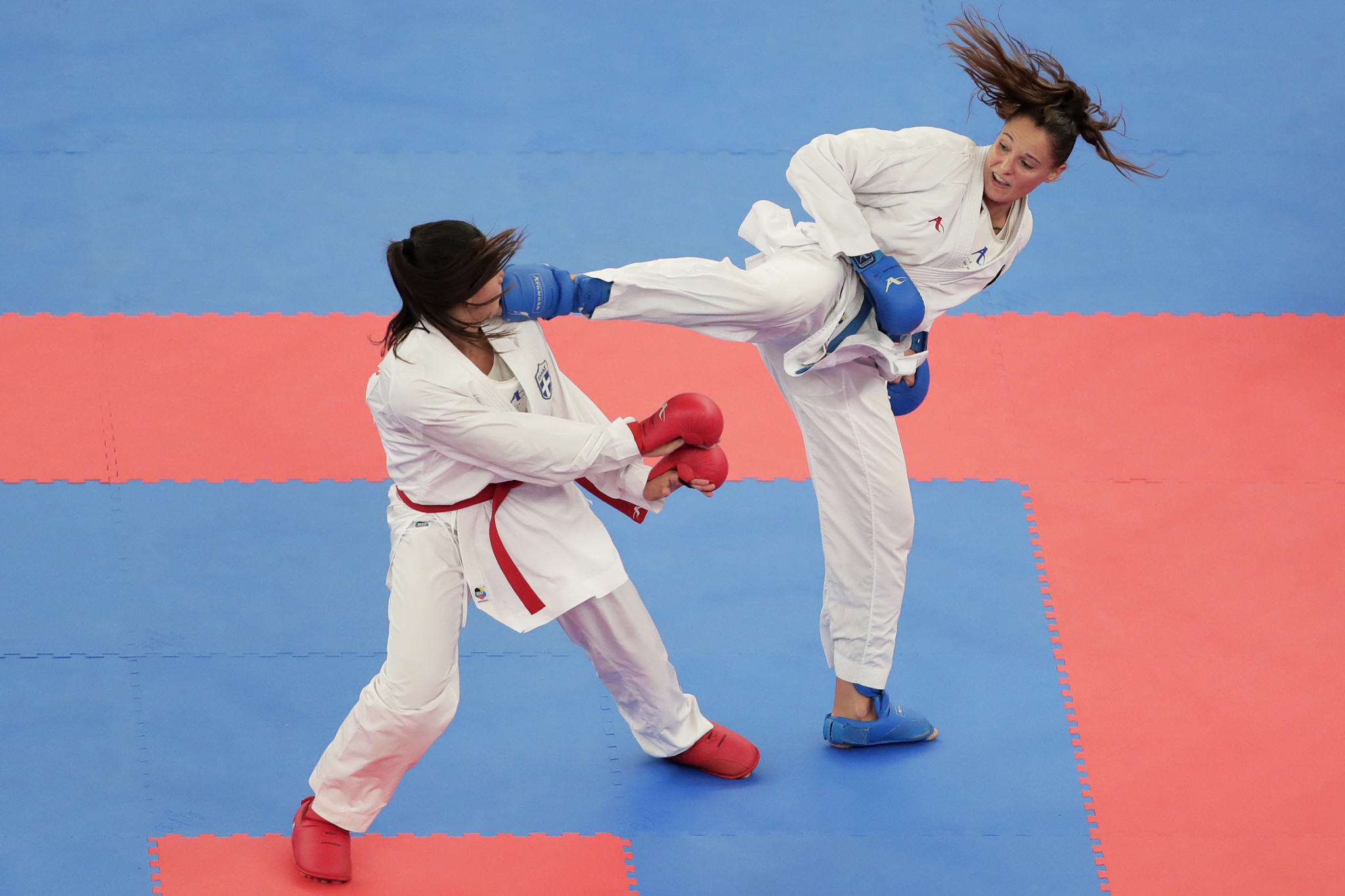 Forty men and 40 women competed when karate made its Olympic debut ©Getty Images