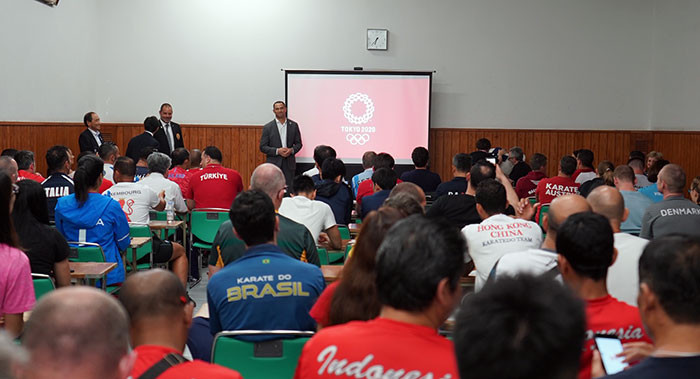 Coaches from around the world took part in the Olympic Seminar ©WKF