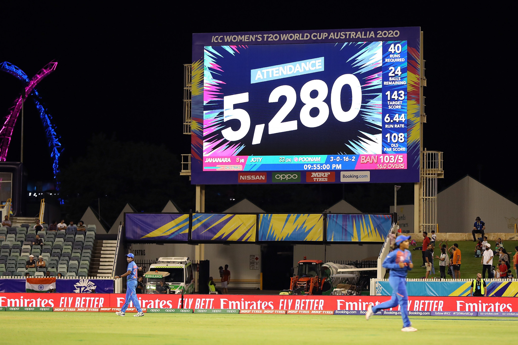 The previous biggest crowd for a women's international cricket match in Australia has twice been bettered ©Getty Images