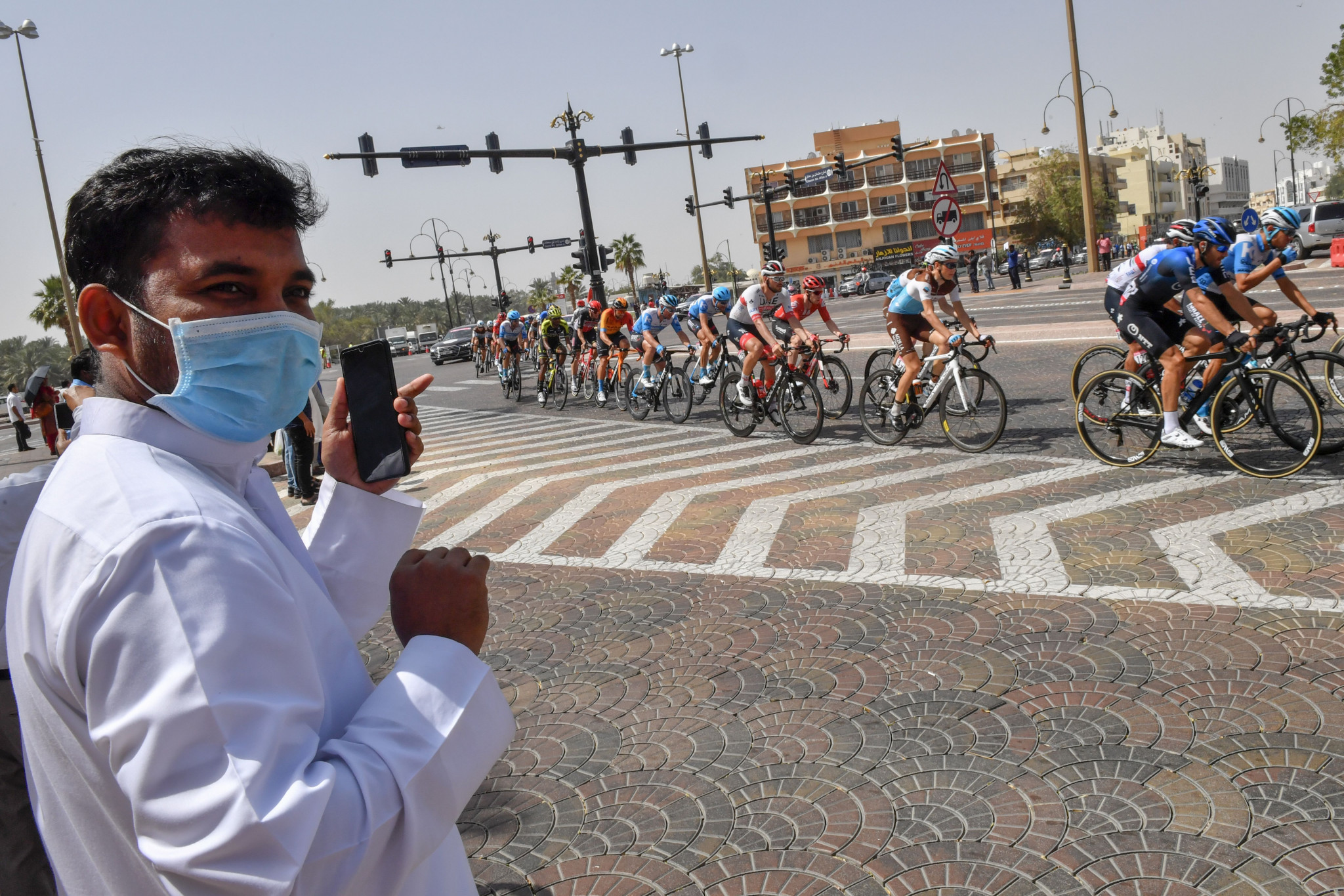 The UAE Tour has been cancelled after two staff members at one of the competing teams were found to have coronavirus ©Getty Images