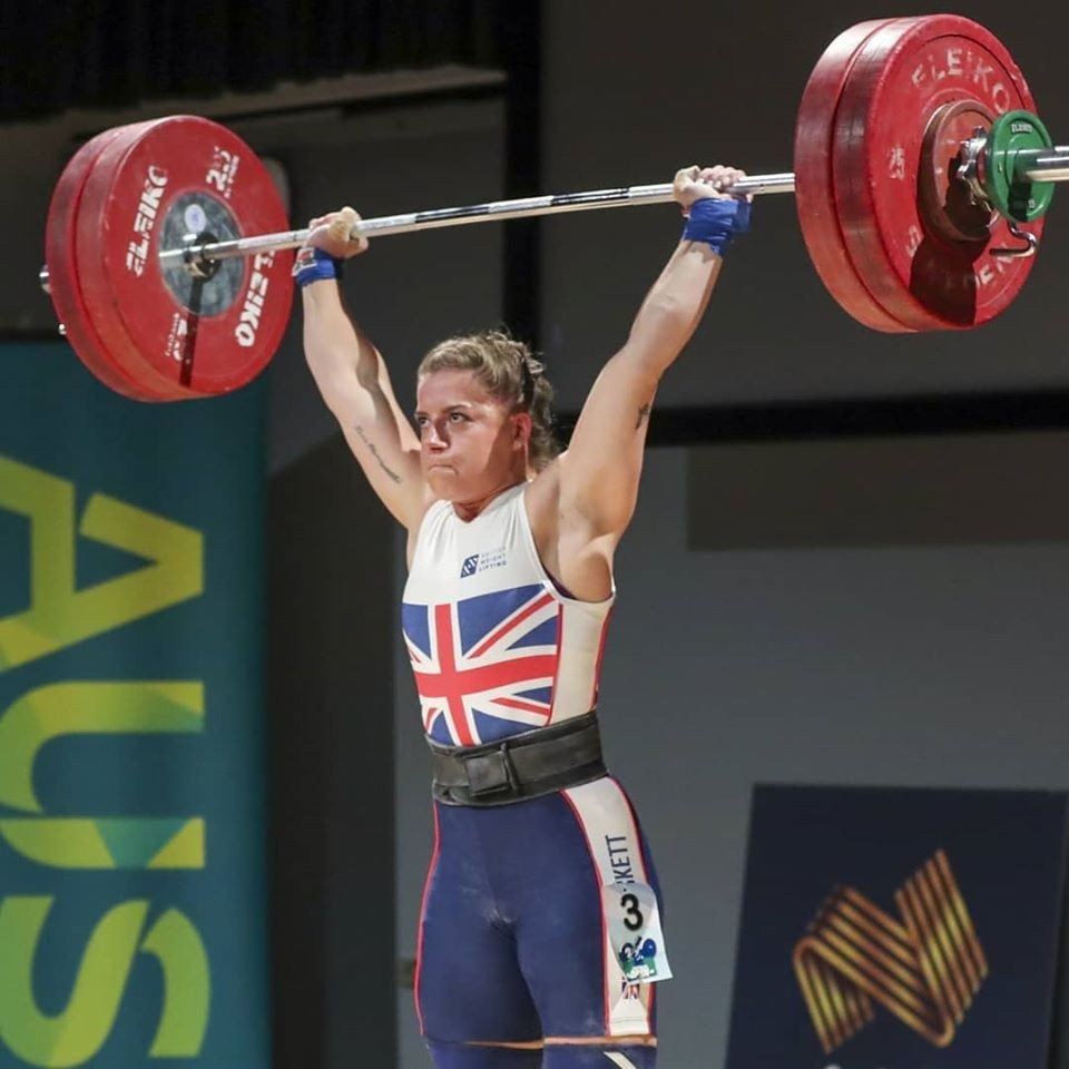 British lifter Emily Muskett won the women's 76kg with 223kg to improve her chances of qualifying for Tokyo 2020 ©Australian Weightlifting Federation