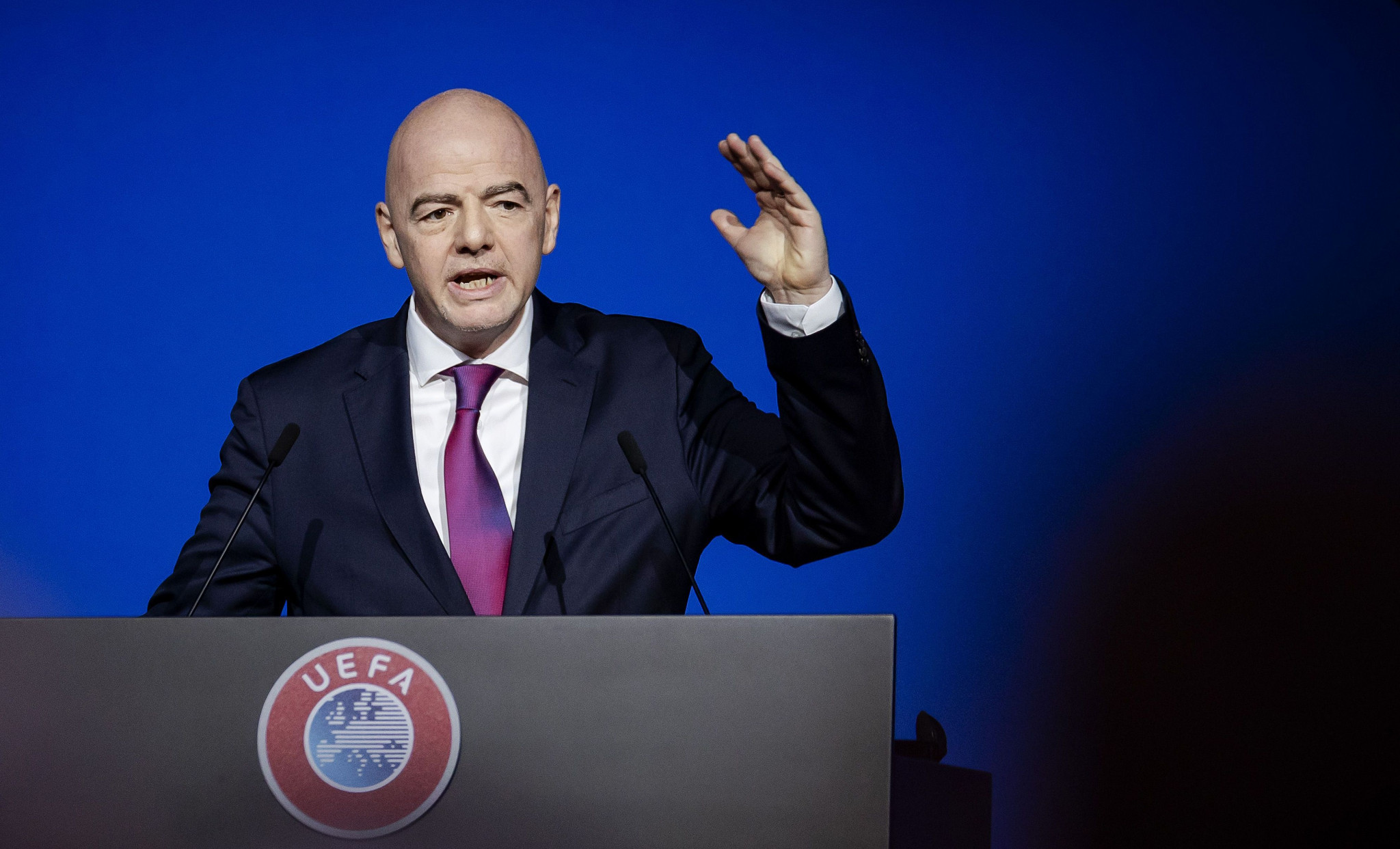 FIFA President Gianni Infantino urged caution over the coronavirus outbreak ©Getty Images