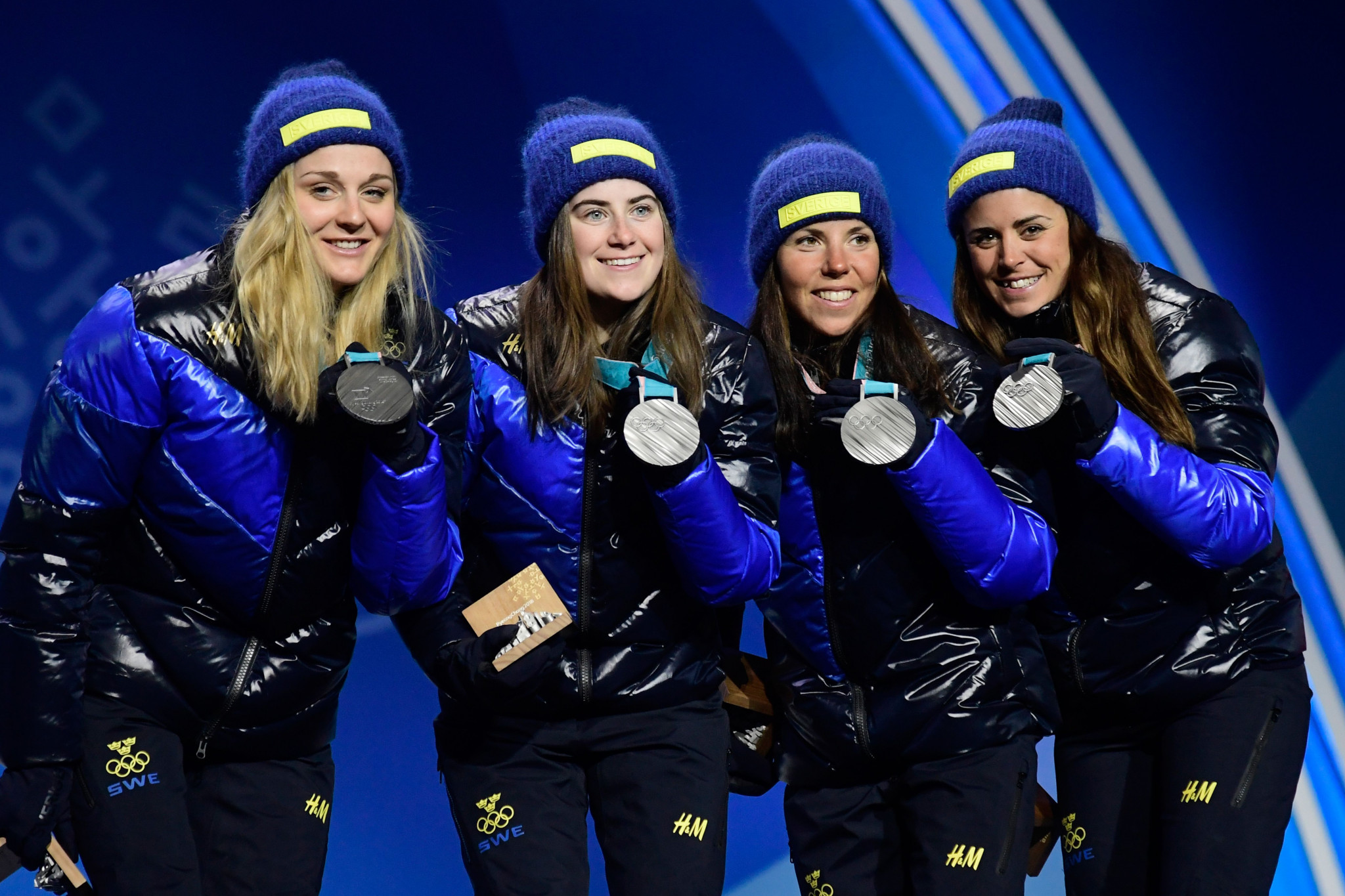 Ebba Andersson was part of the Swedish cross-country team that won silver at the Pyeongchang 2018 Winter Olympic Games ©Getty Images