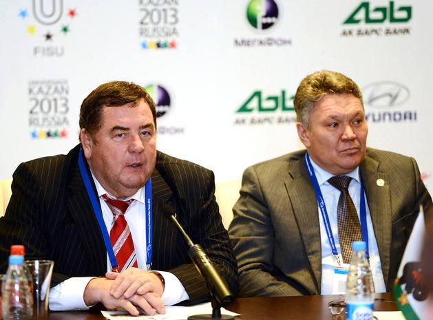 Vasily Shestakov (left) said the University Sambo World Cup in Kazan met the highest professional standards. © ITG