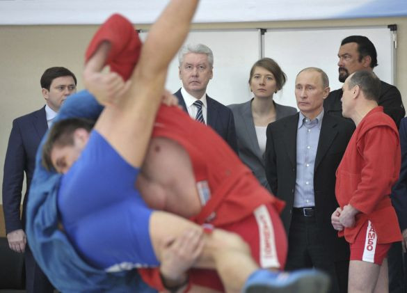 Russian President Vladimir Putin had personally lobbied for sambo to be included in the inaugural European Games in Baku © Getty Images