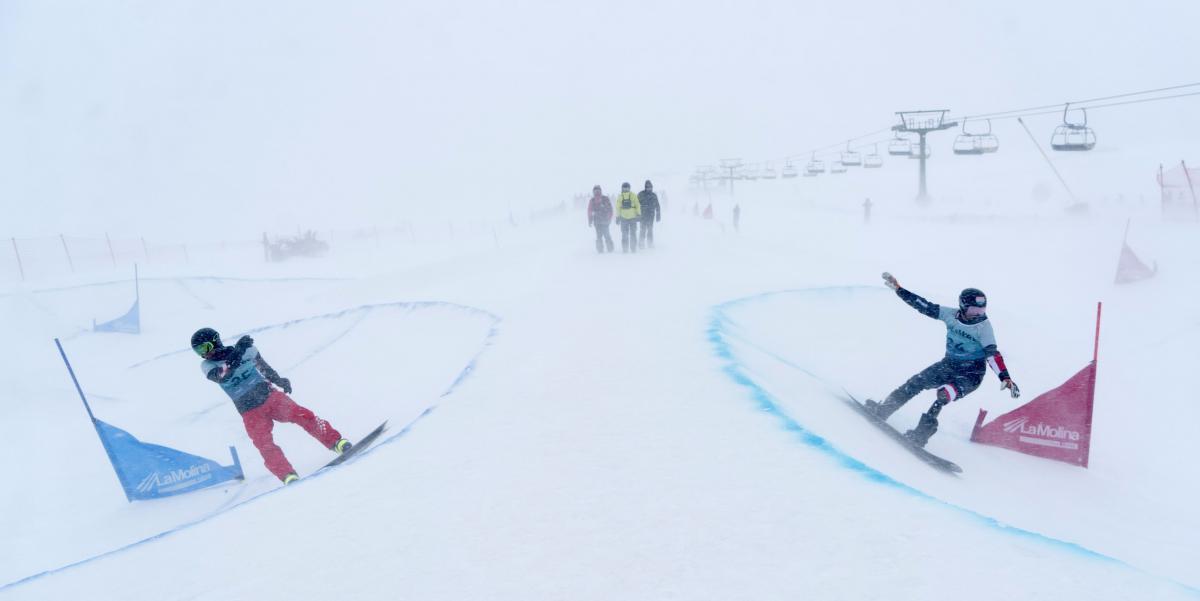 Dual banked slalom discipline makes international debut at World Para Snowboard World Cup in La Molina