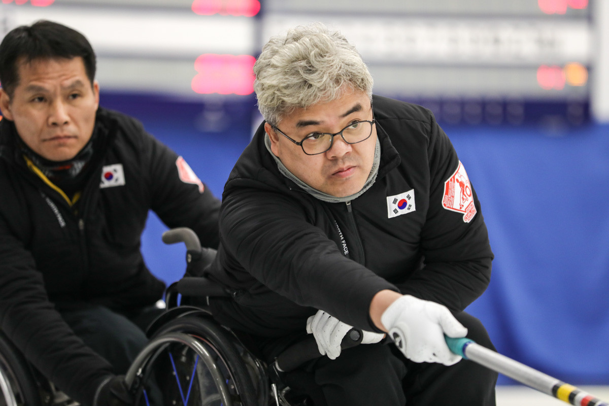 Korea edged out Latvia to secure the final place in the knockout stages of the World Wheelchair Curling Championships ©World Curling