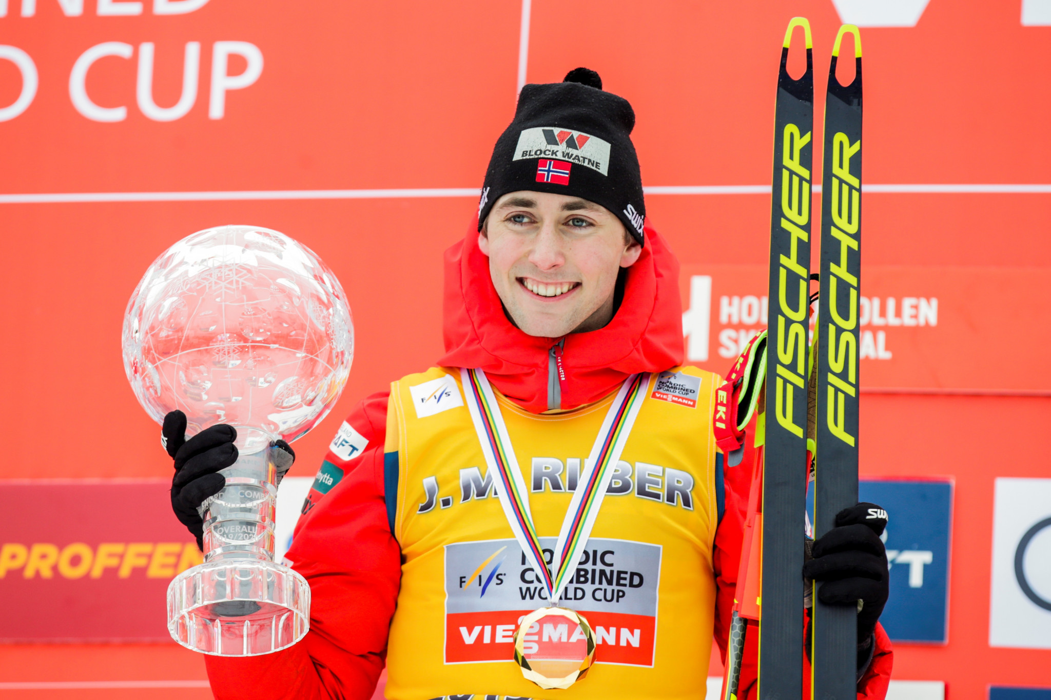 Riiber retains FIS Nordic Combined World Cup title after victory in Oslo