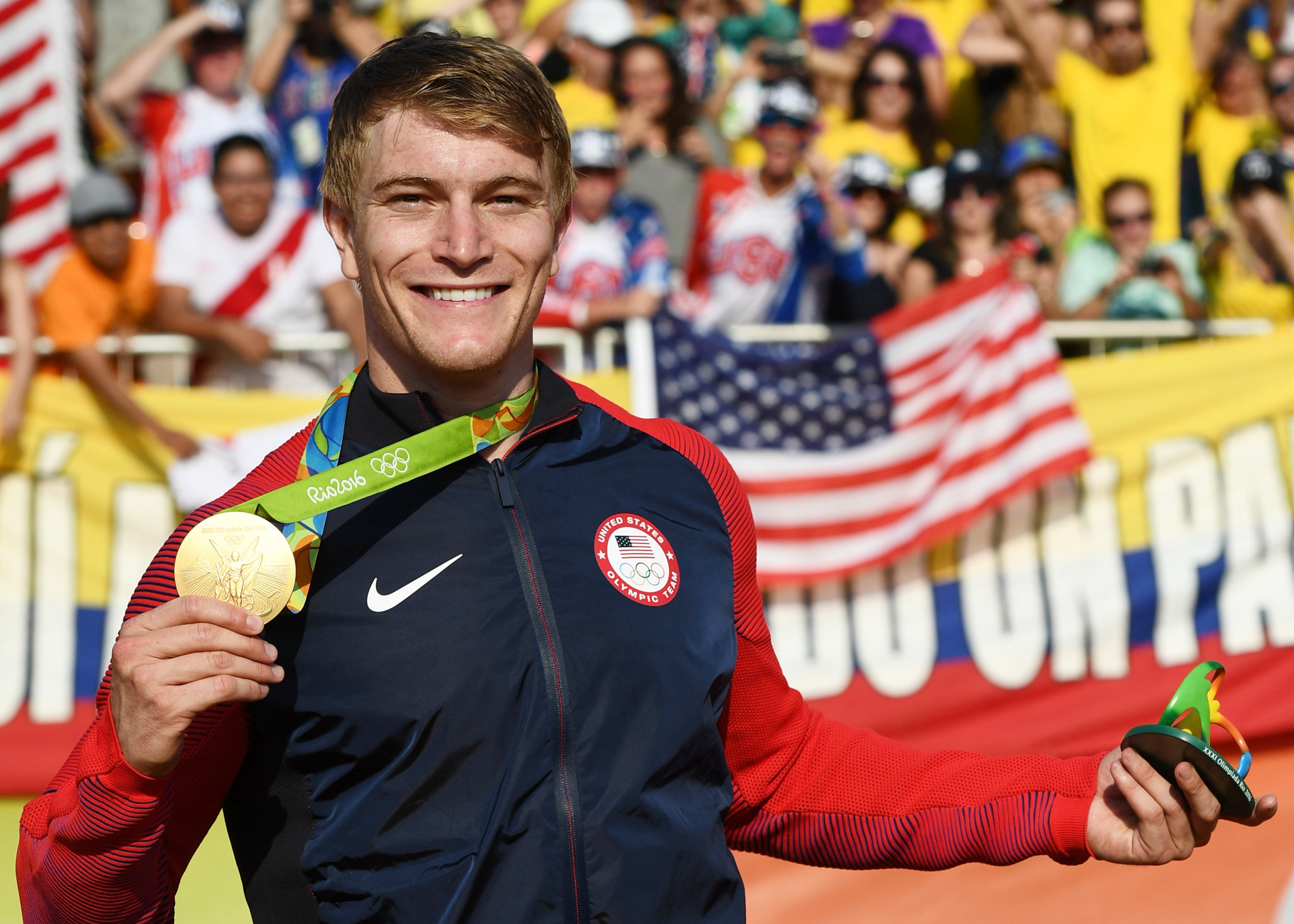 BMX Olympic champion Connor Fields is up for the Team USA male athlete of the month award ©Getty Images