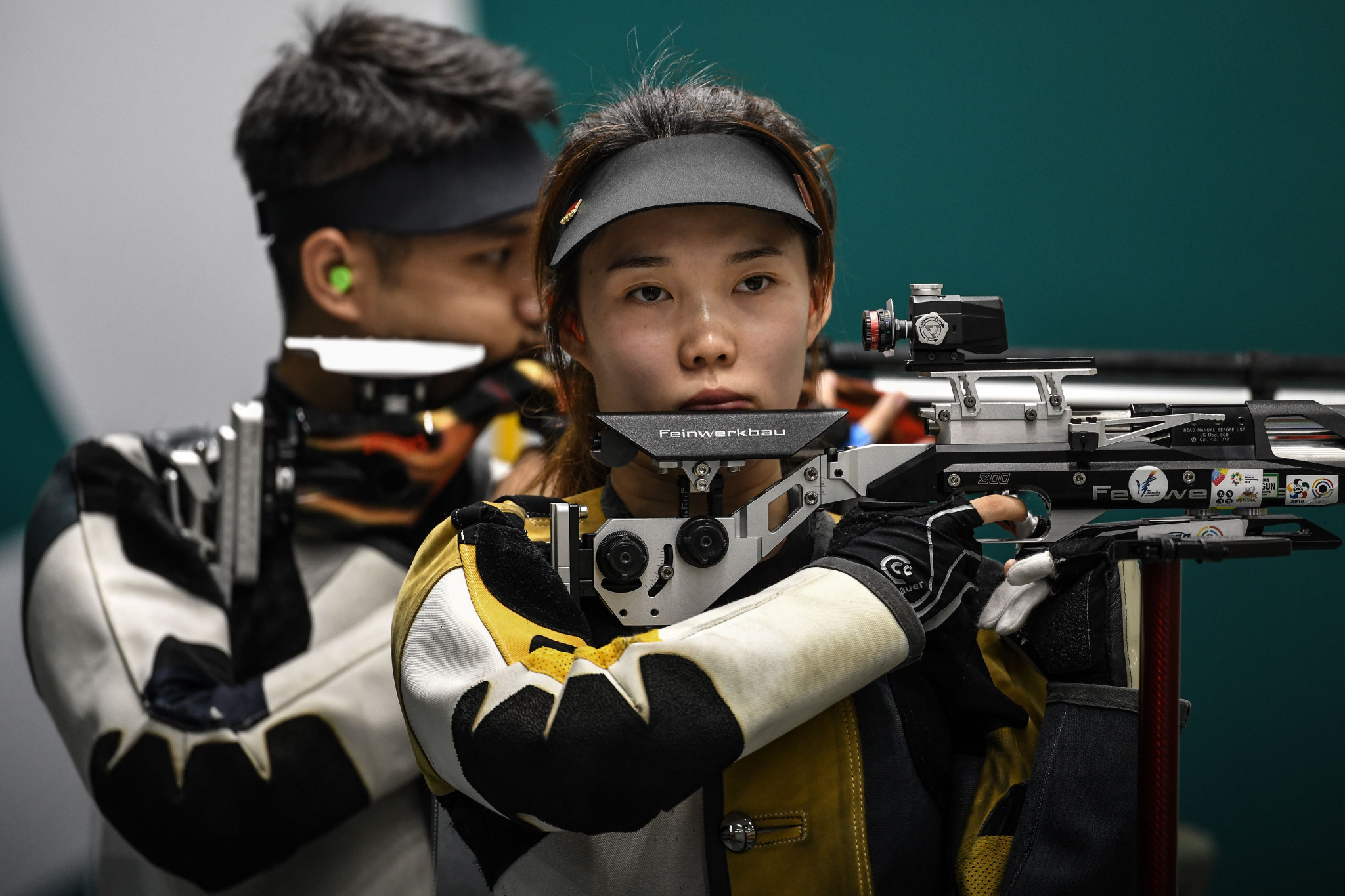 The Chinese shooting team held an online competition to prepare for the Tokyo 2020 Olympic Games ©Getty Images