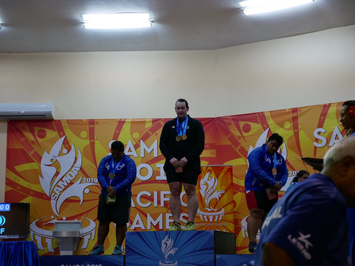 Laurel Hubbard's success at last year's Pacific Games due international attention ©Twitter