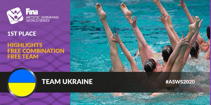 Ukraine shine again on final day of Artistic Swimming World Series in Paris