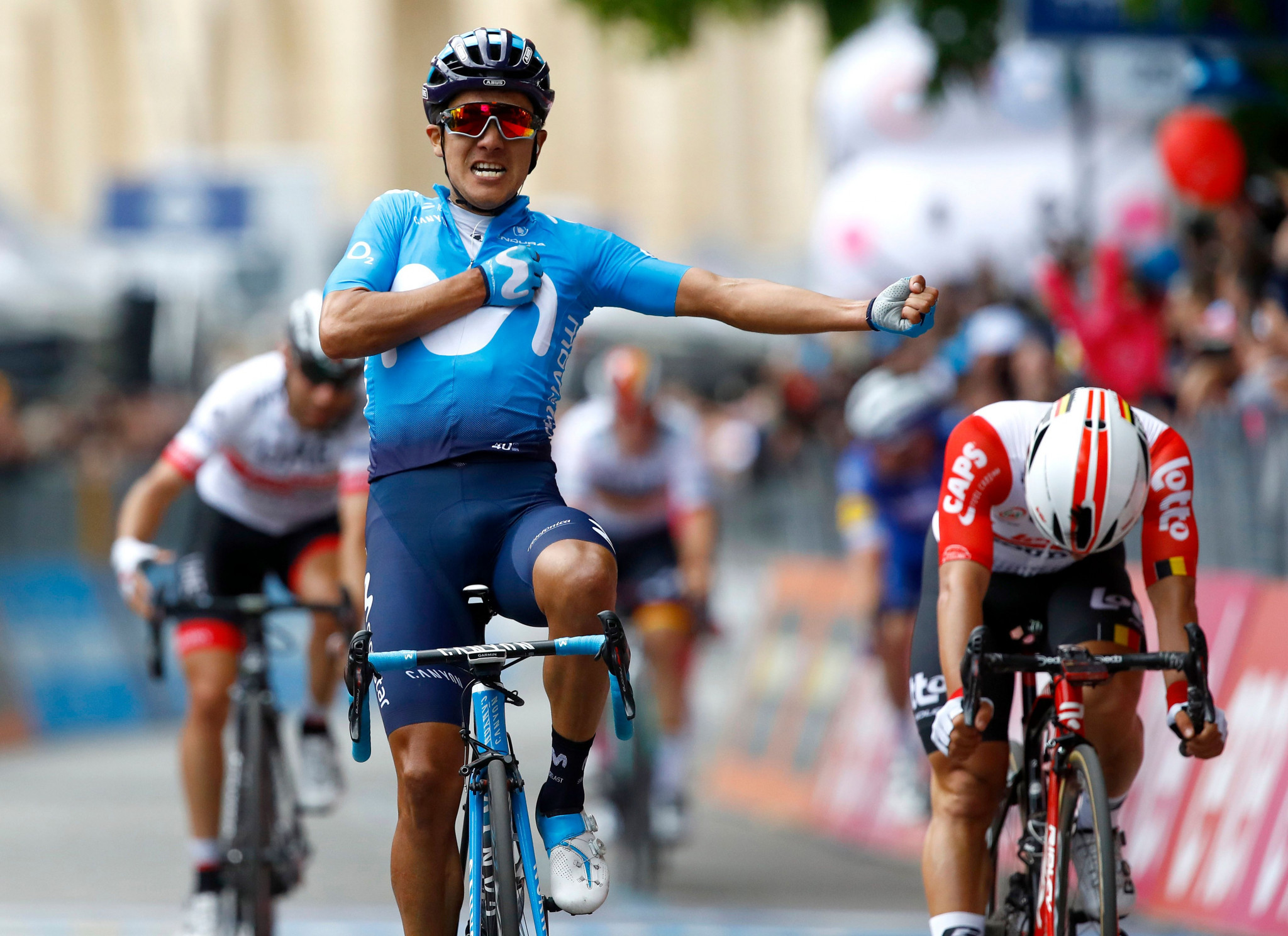 Ecuador's Richard Carapaz won last year's Giro d'Italia and will be delayed in his defence of his title ©Getty Images