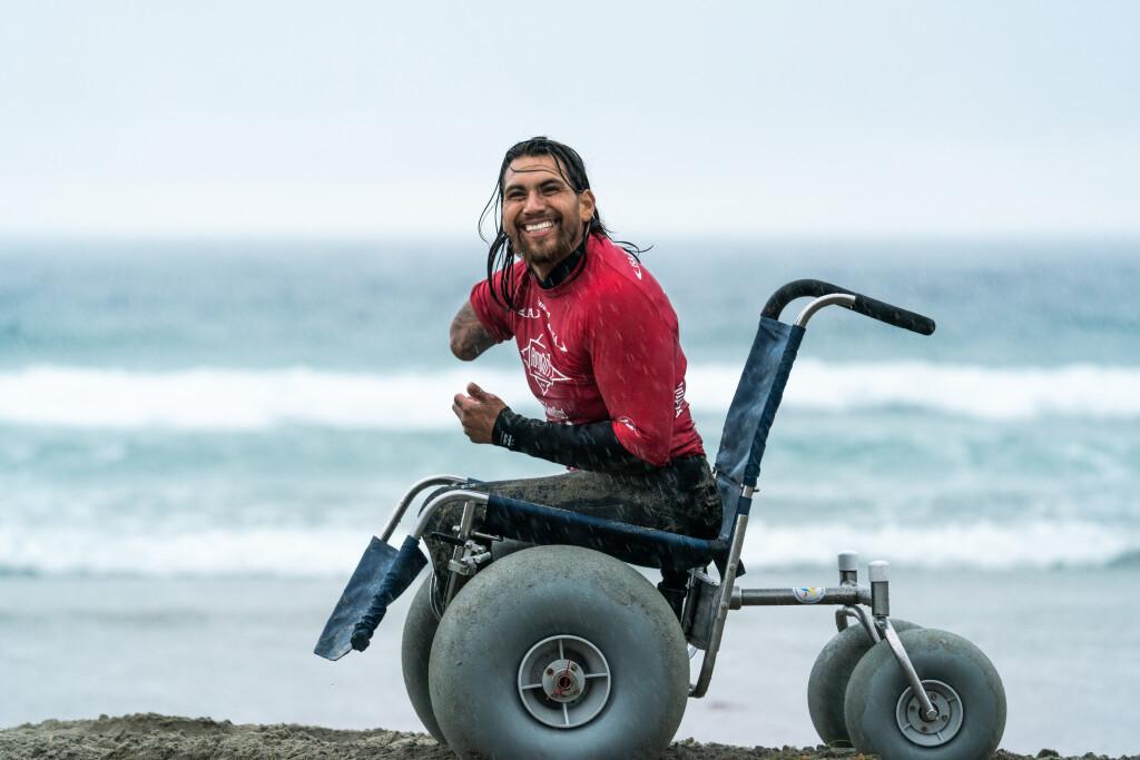 Jose Martinez is enjoying his debut appearance at the World Para Surfing Championships ©ISA