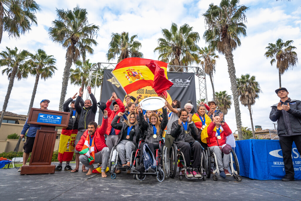 Spain won the team title for the first time in La Jolla ©ISA