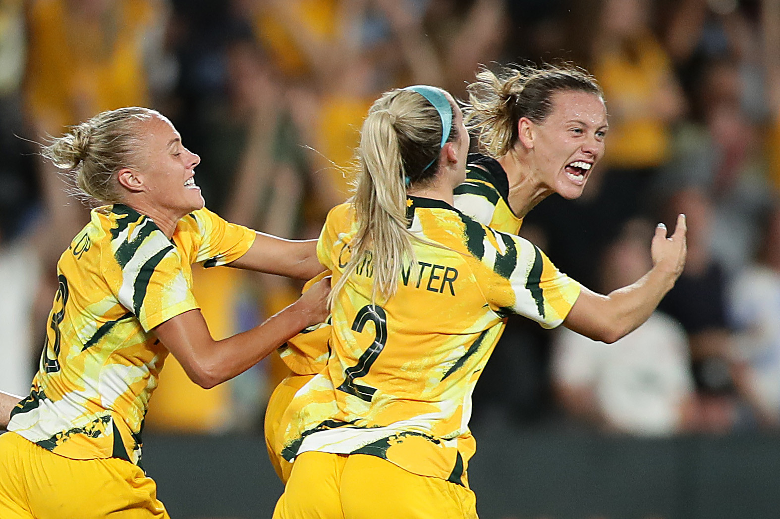 Emily van Egmond scored a superb late goal to win the group for Australia  ©Getty Images